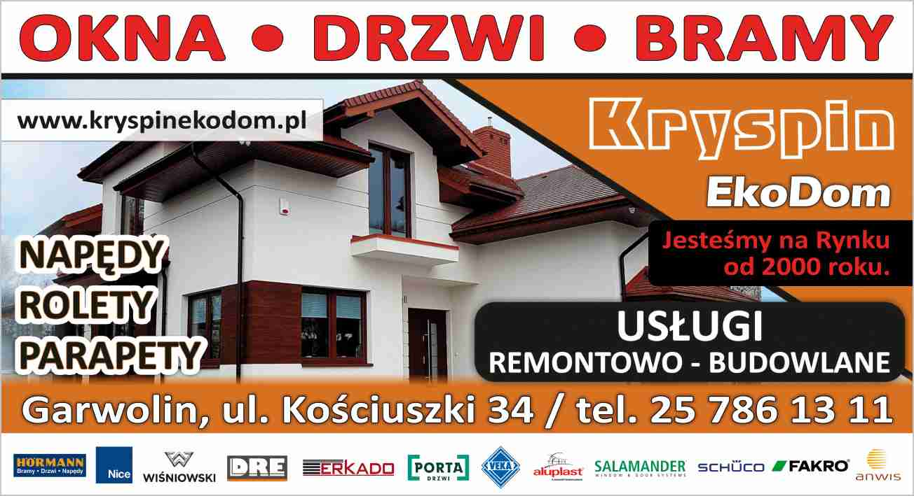 Kryspin Eko Dom Garwolin Okna Drzwi Parapety Rolety Wertikale